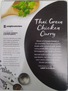 Weight Watchers Thai Green Chicken Curry 340g Lazy Food